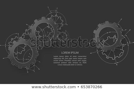 Machines industrie metaal versnellingen mechanisme werk Stockfoto © tashatuvango