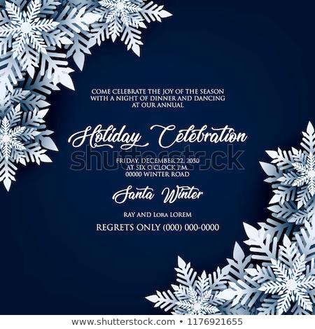 Christmas snowflakes in blue Stock photo © marinini