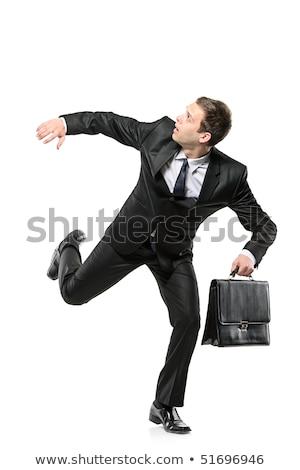 ビジネスマン · を実行して · 孤立した · 男 · 会議 - ストックフォト © fuzzbones0