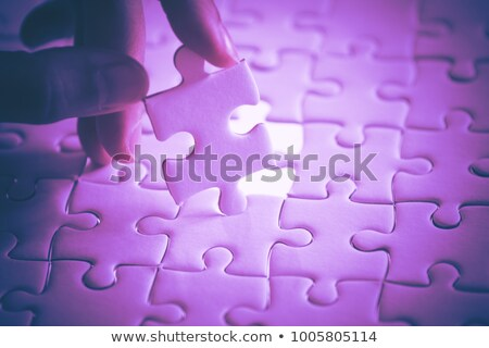 Sviluppo puzzle luogo mancante pezzi testo Foto d'archivio © tashatuvango
