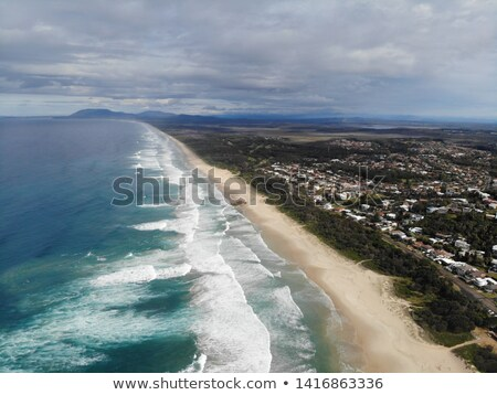 лет Восход Маяк пляж порта север Сток-фото © lovleah
