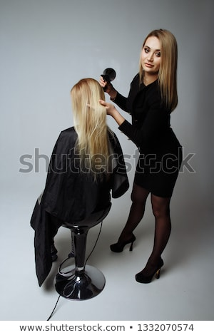 saç · saç · kurutma · makinesi · kadın · bağbozumu - stok fotoğraf © wavebreak_media