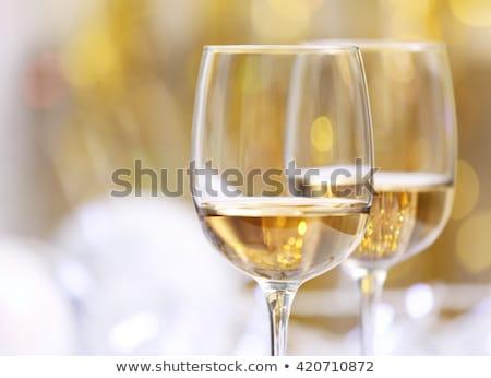 Festive white wine Stock photo © Givaga