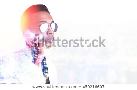 çift maruz kalma portre yetişkin erkek amerikan Stok fotoğraf © stevanovicigor