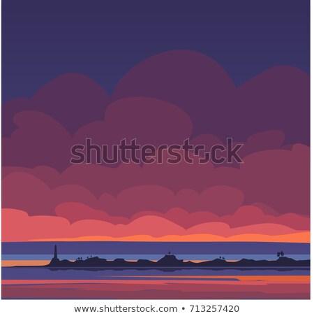 sceniczny · słońce · krajobraz · efekt · dolinie - zdjęcia stock © juhku