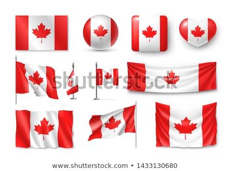 Integet zászló Kanada piros Amerika kisebbségi Stock fotó © shutswis