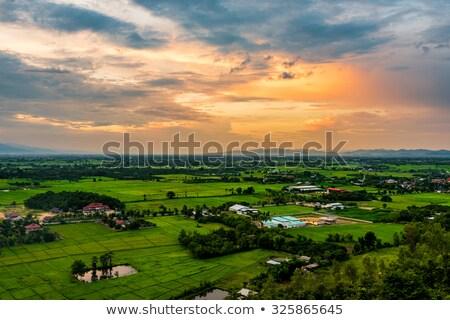 Magasról fotózva kilátás falu hegyek guru kerület Stock fotó © imagedb
