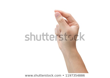 Humans right hand holding blank paper Stock photo © cherezoff