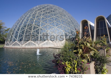 Domes of a Botanic Garden in Milwaukee Stock photo © benkrut
