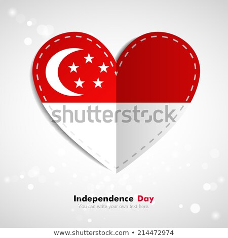 Stock photo: I love singapore sign