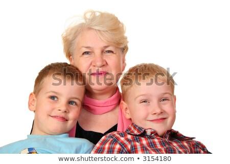 Grootmoeder kleinkinderen familie kinderen vrouwen gelukkig Stockfoto © Paha_L