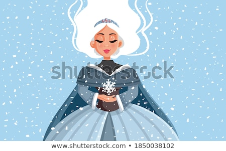 Schnee Königin Porträt schönen Frau tragen Stock foto © Anna_Om