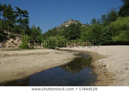 Pequeno lago montanha ilha céu água Foto stock © simazoran
