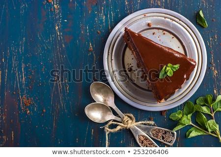 Torta mollica caffè home frutta Foto d'archivio © zoryanchik