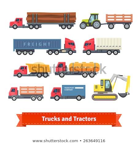 Brandstof vrachtwagen vector icon benzine zwarte Stockfoto © MaxPainter