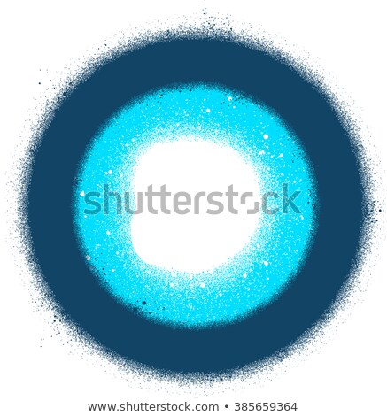 abstract sprayed graffiti radial sign in blue over white Stock photo © Melvin07