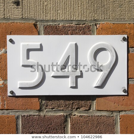 Casa numeri quaranta nove muro design Foto d'archivio © meinzahn