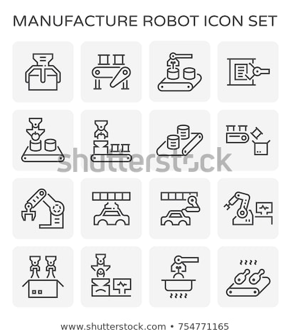 car production line icon stock photo © rastudio
