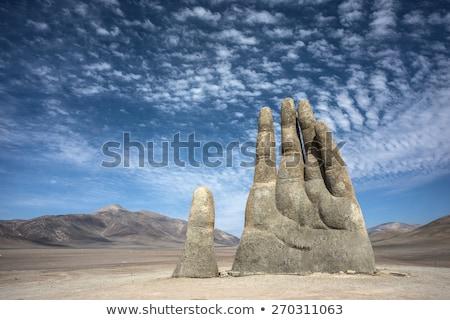 巨人 手 彫刻 こぶし ギャラリー 建物 ストックフォト © artjazz