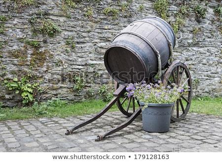 рок колесо баррель большой фермы каменные Сток-фото © stockfrank