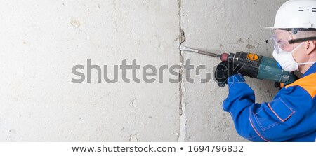 Concrete plaster cleaning Stock photo © smuay