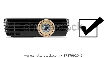 テレビ · 黒 · スライド · 金 · 頭字語 · 反射 - ストックフォト © timbrk