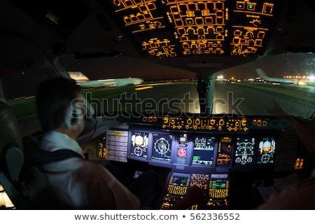 авиакомпания аэропорту иллюстрация небе человека фон Сток-фото © bluering