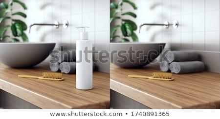 Ahşap 3D oda iç ürün yerleştirme Stok fotoğraf © stevanovicigor