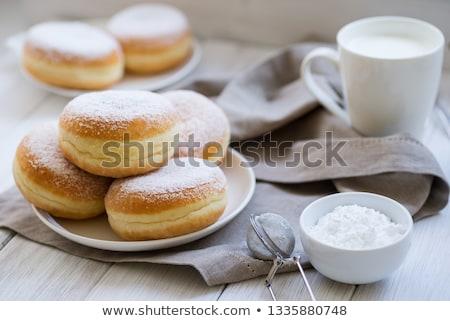 Stockfoto: Carnaval · donut · voedsel · appel · vakantie · confetti