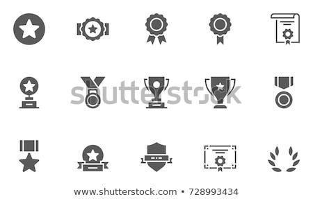 Trofeo iconos deporte sólido Foto stock © timurock