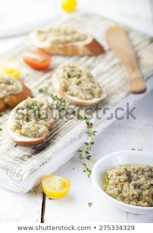 canape with olive and tapenade Stock photo © M-studio