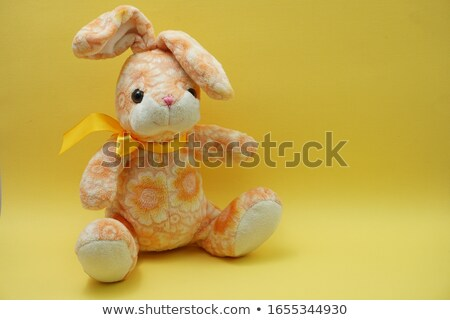 Little girl with rabbit doll Stock photo © bluering