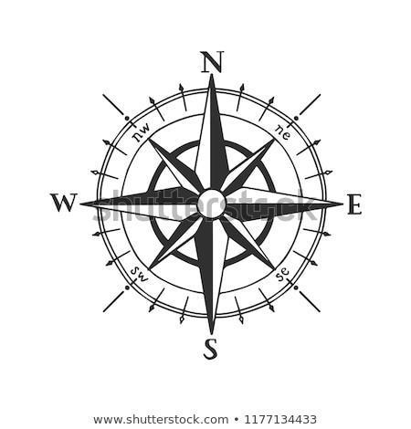 Brújula icono marinos náutico temas Foto stock © adrian_n