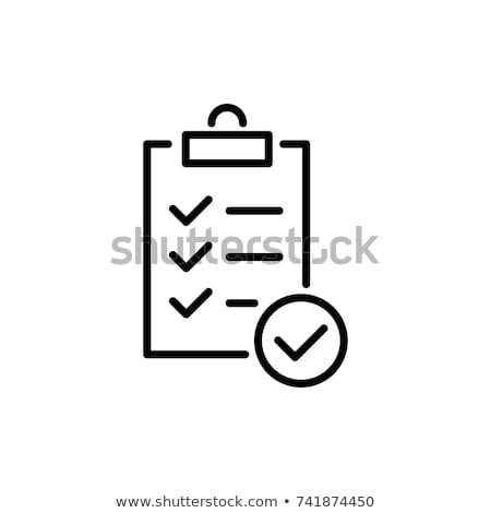 Verificar lista bloco de notas escritório lápis espaço Foto stock © fuzzbones0