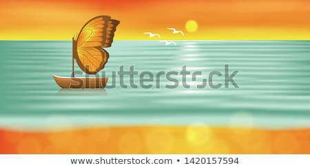 Sunset Lake in the summer. stock photo © EFischen