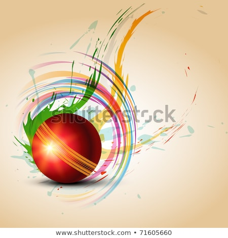 abstrato · artístico · colorido · críquete · bola · esportes - foto stock © pathakdesigner