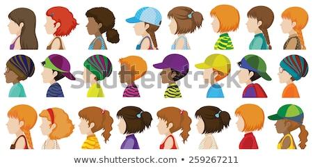 gyerekek · arcok · vektor · kreatív · terv · művészet - stock fotó © bluering