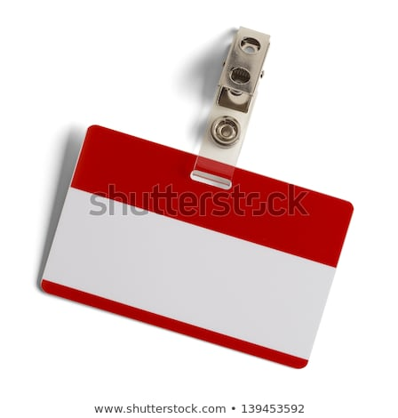 Colorful red name tag with blank copy space Stock photo © adrian_n