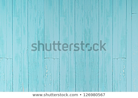 Bağbozumu ahşap kapı açık mavi duvar eski ahşap Stok fotoğraf © bank215