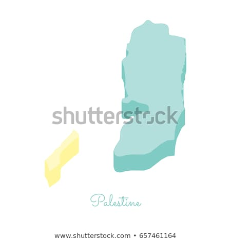 Isometric map of Palestine detailed vector illustration Stock photo © tkacchuk
