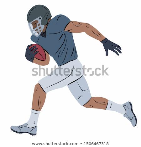 Proste szkic amerykański piłka nożna gracze ilustracja Zdjęcia stock © bluering