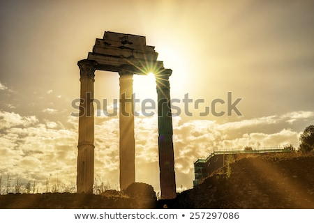 rome italy temple of castor stock photo © m_pavlov