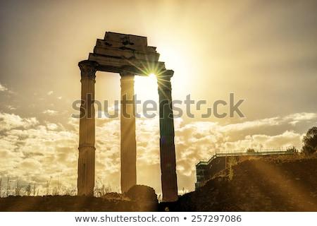 Rome, Italy Temple of Castor Stock photo © m_pavlov