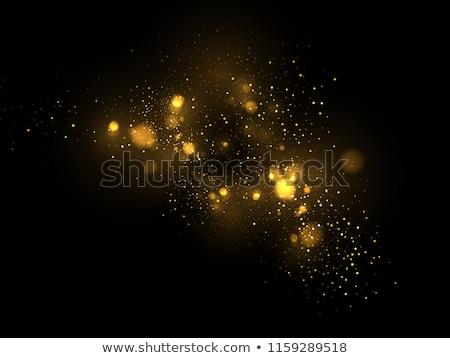 Gold glitter particles effect. EPS 10 Stock photo © beholdereye