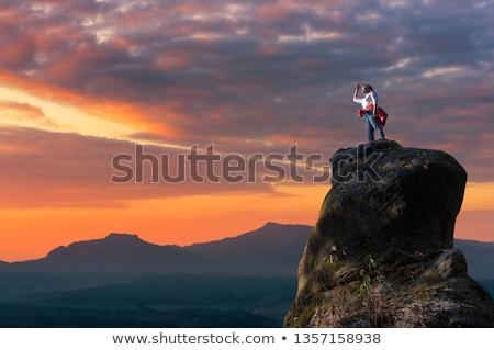 free climber at sunset Stock photo © adrenalina