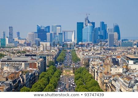 Párizs · karácsony · Franciaország · égbolt · város · templom - stock fotó © razvanphotography