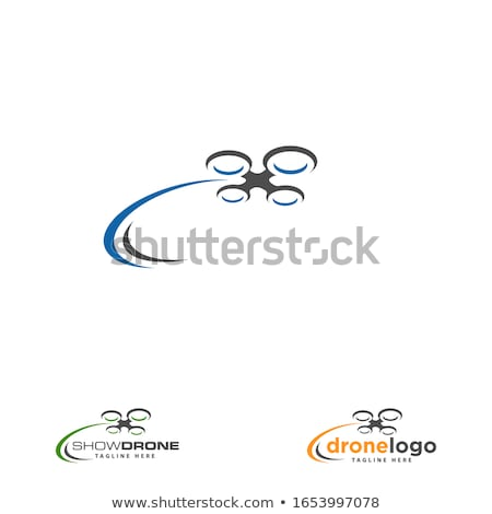 Drone Logo Concept Design Stock photo © sdCrea
