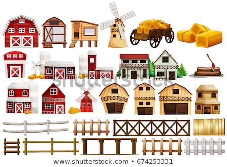 farm elements with many buildings stock photo © bluering
