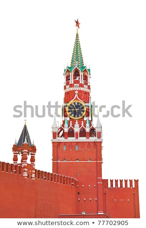 Red soviet flags on Red Square in Moscow Stock photo © simply