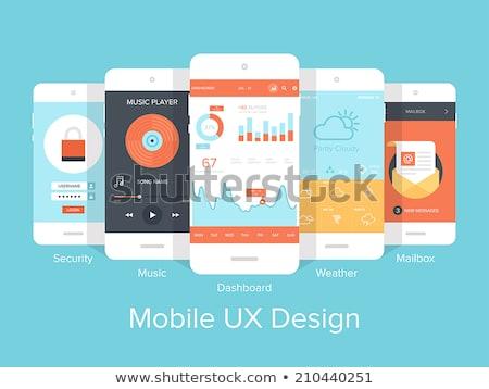Creativo utente login design sito mobile Foto d'archivio © SArts